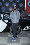 Wake Forest Demon Deacons running back Christian Beal poses for a photo in front of a NASCAR race car in Victory Circle at the Charlotte Motor Speedway on December 26, 2017 in Concord, North Carolina.  (Brian Westerholt/Sports On Film)
