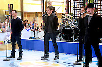 August 17, 2012 Drew Lachey,Nick Lachey, Jeff Timmon,  Justin Jeffre, 98 Degrees perform on the NBC's Today Show Toyota Concert Serie at Rockefeller Center in New York City.Credit:© RW/MediaPunch Inc. /NortePhoto.com<br />