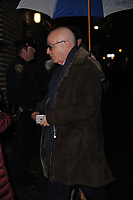 www.acepixs.com<br /> January 8, 2018 New York City<br /> <br /> Michael Wolff arriving to tape an appearance on 'The Late Show with Stephen Colbert' on January 8, 2018 in New York City.<br /> <br /> Credit: Kristin Callahan/ACE Pictures<br /> <br /> Tel: (646) 769 0430<br /> e-mail: info@acepixs.com