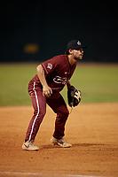 Macon Bacon third baseman Noah Mendlinger (23) during a Coastal Plain League game against the Savannah Bananas on July 15, 2020 at Grayson Stadium in Savannah, Georgia.  (Mike Janes/Four Seam Images)