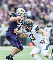 SEATTLE, WA - September 26, 2015. The Cal Bears football team vs the University of Washington Huskies at Husky Stadium in Seattle, Washington. Final score, Cal Bears 30, Washington Huskies 24.