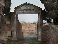 Entrance with portico to the Domus del Protiro (House of the Porch), 3rd century, Ostia Antica, Italy. Picture by Manuel Cohen