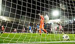 28.11.2019: Feyenoord v Rangers: Alfredo Morelos scores his second goal