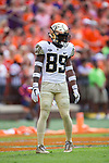 Greg Dortch (89) of the Wake Forest Demon Deacons awaits a kick-off during first half action against the Clemson Tigers at Memorial Stadium on October 7, 2017 in Clemson, South Carolina.  The Tigers defeated the Demon Deacons 28-14. (Brian Westerholt/Sports On Film)