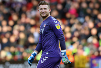 Dillon Phillips of Charlton Athletic reacts to the Sheffield Wednesday fans during Charlton Athletic vs Sheffield Wednesday, Sky Bet EFL Championship Football at The Valley on 30th November 2019