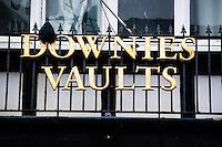 ALEX WEST STORY<br /> Pictured: Exterior view of Downies Vaults bar on Eastgate Street, Aberystwyth, Wales, UK. Friday 10 February 2017<br /> Re: Rugby player Gareth Davies seen on mobile phone footage assaulting people