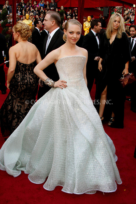 WWW.ACEPIXS.COM . . . . .  ....March 7 2010, Hollywood, CA....Amanda Seyfried at the 82nd Annual Academy Awards held at Kodak Theatre on March 7, 2010 in Hollywood, California.....Please byline: Z10-ACE PICTURES... . . . .  ....Ace Pictures, Inc:  ..Tel: (212) 243-8787..e-mail: info@acepixs.com..web: http://www.acepixs.com