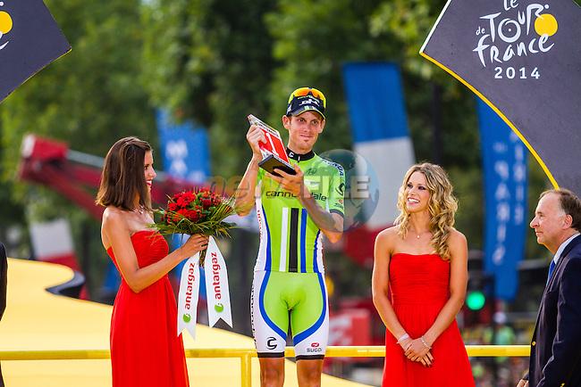 Alessandro De Marchi (ITA) of Cannondale, wins overal combativity award, Tour de France, Stage 21: Évry > Paris Champs-Élysées, UCI WorldTour, 2.UWT, Paris Champs-Élysées, France, 27th July 2014, Photo by Thomas van Bracht