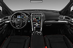 Stock photo of straight dashboard view of 2017 Ford Explorer Sport 5 Door Suv Dashboard