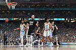 GLENDALE, AZ - APRIL 03: Przemek Karnowski #24 of the Gonzaga Bulldogs reacts after a play during the 2017 NCAA Men's Final Four National Championship game against the North Carolina Tar Heels at University of Phoenix Stadium on April 3, 2017 in Glendale, Arizona.  (Photo by Chris Steppig/NCAA Photos via Getty Images)