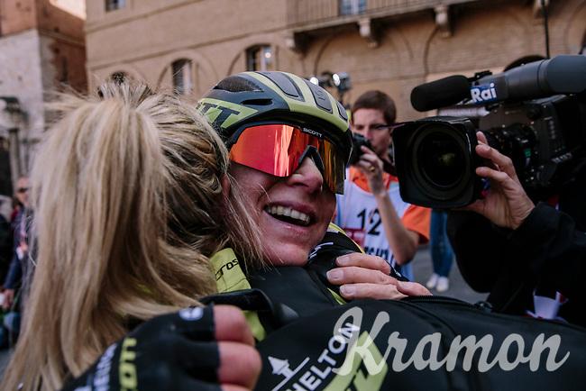 Annemiek Van Vleuten (NED/Mitchelton-Scott) wins the 5th Strade Bianche WE (1.WWT)<br /> One day race from Siena to Siena (136km)<br /> <br /> ©JojoHarper for kramon