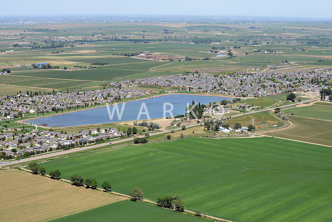Aerial of Johnston, Colorado. June 2014