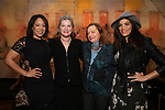 Selenis Leyva, Kate Mulgrew, Dale Soules and Laura Gomez attend The Vineyard Theatre's Emerging Artists Luncheon at The National Arts Club on November 9, 2017 in New York City.
