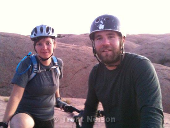 . Saturday, October 17 2009.slickrock mountain bike trail. djamila grossman, mike terry,