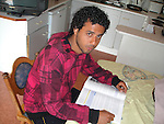 Fawaz Almakradi from Yemen who wants to study Economics pictured in the accomodation at Mosney on Day three of the Protest at Mosney, County Meath against the removal of 111 Asylum Seekers to Dublin...Photo NEWSFILE .(Photo credit should read /NEWSFILE)....This Picture has been sent you under the condtions enclosed by:.Newsfile Ltd..The Studio,.Millmount Abbey,.Drogheda,.Co Meath..Ireland..Tel: +353(0)41-9871240.Fax: +353(0)41-9871260.GSM: +353(0)86-2500958.email: pictures@newsfile.ie.www.newsfile.ie.FTP: 193.120.102.198.