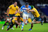 Guido Petti of Argentina takes on the Australia defence. The Rugby Championship match between Argentina and Australia on October 8, 2016 at Twickenham Stadium in London, England. Photo by: Patrick Khachfe / Onside Images