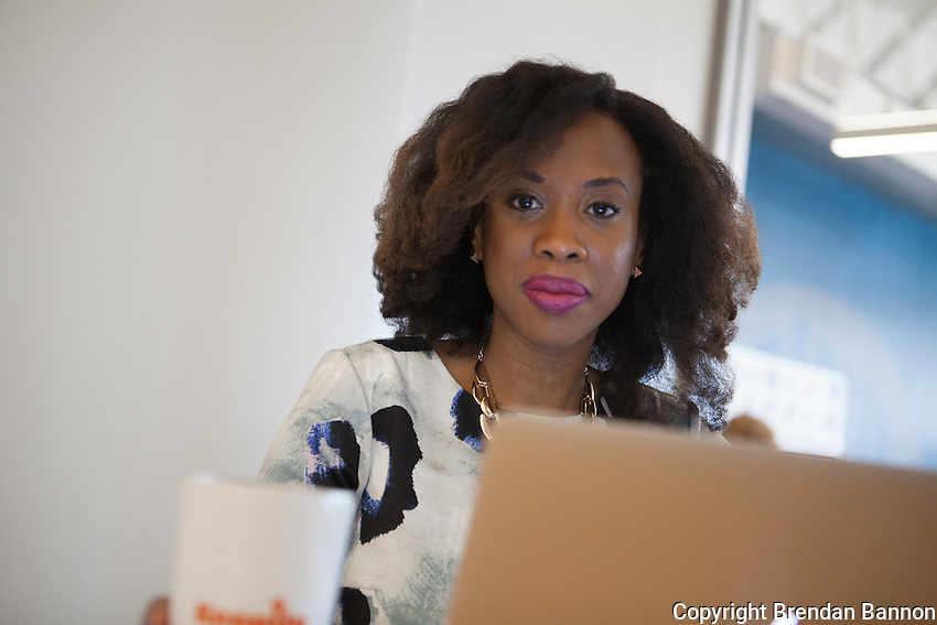 Lauren Washington, founder of KeepUp an app that coordinates major events from social media feeds on one easy to use calender. Lauren is based at the business incubator of 43North in Buffalo NY. KeepUp was one of the businesses that awarded 250,000 dollars in the 2014 43North business development contest in Buffalo, NY.