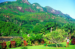 Trois Freres, Three Brothers, mountain peaks, Victoria, Mahe, Seychelles