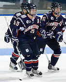 Casey Knajdek (UConn - 5), Cristin Allen (UConn - 25), Jaclyn Camardo (UConn - 11) - The University of Connecticut Huskies defeated the Northeastern University Huskies 4-1 in Hockey East quarterfinal play on Saturday, February 27, 2010, at Matthews Arena in Boston, Massachusetts.