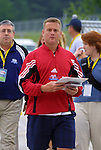 18 June 2003: Atlanta Beat head coach Tom Stone. The WUSA All-Star Skills Competition was held at SAS Stadium in Cary, NC.
