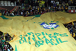 15 JUN 2010:  Huge Brazil jersey banner layed out in the stands.  The Brazil National Team played the North Korea National Team to a 0-0 tie at the end of the 1st half at Ellis Park Stadium in Johannesburg, South Africa in a 2010 FIFA World Cup Group G match.