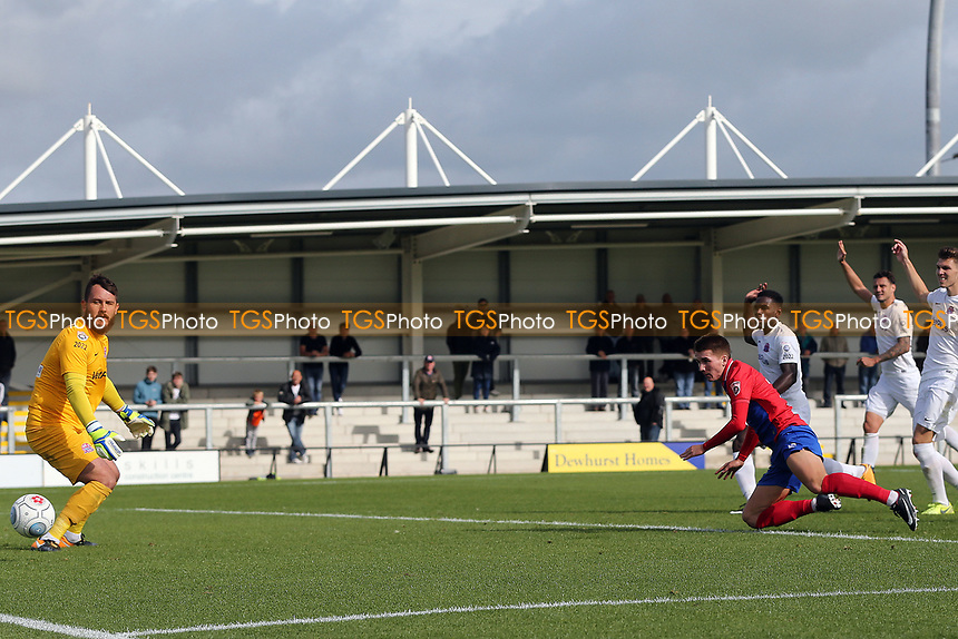Sam Ling of Dagenham scores the second goal during AFC Fylde vs Dagenham & Redbridge, Vanarama National League Football at Mill Farm on 19th August 2017