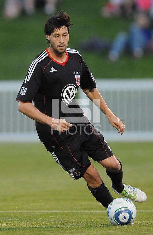 D.C. United midfielder Branko Boskovic (8) File photo RFK stadium 2011 season.
