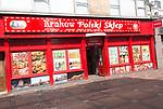 Polish shop, Krakow Polski Sklep, town centre of Swindon, Wiltshire, England, UK