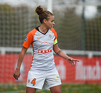 20181027 - CAMPHIN-EN-PEVELE , FRANCE : Montpellier's Marion Torrent pictured during the 8 th competition game between the women teams of Lille OSC and Montpellier Herault Sporting Club in the 2018-2019 season of the first Division - Ligue 1 at Domaine de Luchin , Saturday 27th Octobre 2018 ,  PHOTO Dirk Vuylsteke | Sportpix.Be