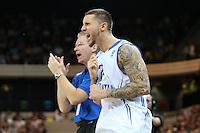 GB's Benjamin Mockford & Joe Prunty Great Britain Head Coach during the EuroBasket 2015 2nd Qualifying Round Great Britain v Bosnia & Herzegovina (Euro Basket 2nd Qualifying Round) at Copper Box Arena in London. - 13/08/2014
