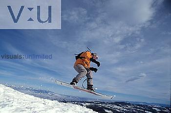 "Snowboarding the ""Ridge"" at Bridger Mountains, Montana"