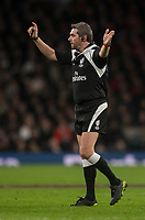 Referee J&eacute;r&ocirc;me Garc&egrave;s<br /> <br /> Photographer Bob Bradford/CameraSport<br /> <br /> NatWest Six Nations Championship - England v Wales - Saturday 10th February 2018 - Twickenham Stadium - London<br /> <br /> World Copyright &copy; 2018 CameraSport. All rights reserved. 43 Linden Ave. Countesthorpe. Leicester. England. LE8 5PG - Tel: +44 (0) 116 277 4147 - admin@camerasport.com - www.camerasport.com