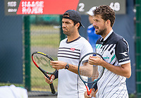 Rosmalen, Netherlands, 11 June, 2019, Tennis, Libema Open, Mens doubles Robin Haase (NED) and Jean Julien Rojer (NED) (L)<br /> Photo: Henk Koster/tennisimages.com