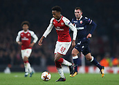 2nd November 2017, Emirates Stadium, London, England; UEFA Europa League group stage, Arsenal versus Red Star Belgrade; Joe Willock of Arsenal in action