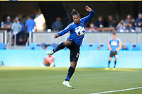 San Jose, CA - Saturday July 28, 2018: Quincy Amarikwa during a Major League Soccer (MLS) match between the San Jose Earthquakes and Real Salt Lake at Avaya Stadium.
