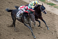 BALTIMORE, MD - MAY 20: Cloud Computing  #2, ridden by Javier Castellano, wins the 142nd Preakness Stakes ahead of Classic Empire  #5, ridden by Julien Leparoux, on Preakness Stakes Day at Pimlico Race Course on May 20, 2017 in Baltimore, Maryland. (Photo by Dan Heary/Eclipse Sportswire/Getty Images)