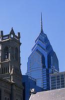 Amérique/Amérique du Nord/USA/Etats-Unis/Vallée du Delaware/Pennsylvanie/Philadelphie : L'église Methodiste sur Arch Street et gratte ciel de One Liberty Place