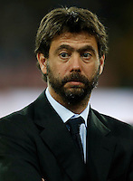 Andrea Agnelli , president of Juventus FC before  the  italian serie a soccer match against   SSC Napoli,    at  the San  Paolo   stadium in Naples  Italy , September 26 , 2015