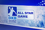 Anzeigetafel mit Logo der DKB Handball Bndesliga  -  ALL STAR GAME  beim Spiel der All Star-Team - Deutsche Nationalmannschaft.<br /> <br /> Foto © PIX-Sportfotos *** Foto ist honorarpflichtig! *** Auf Anfrage in hoeherer Qualitaet/Aufloesung. Belegexemplar erbeten. Veroeffentlichung ausschliesslich fuer journalistisch-publizistische Zwecke. For editorial use only.