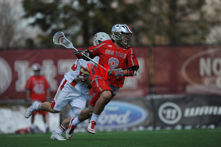 The Ohio State University men's lacrosse team compete at Denver on March 19, 2016