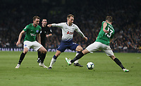 Tottenham Hotspur's Christian Eriksen takes on Brighton & Hove Albion's Pascal Groß<br /> <br /> Photographer Rob Newell/CameraSport<br /> <br /> The Premier League - Tottenham Hotspur v Brighton and Hove Albion - Tuesday 23rd April 2019 - White Hart Lane - London<br /> <br /> World Copyright © 2019 CameraSport. All rights reserved. 43 Linden Ave. Countesthorpe. Leicester. England. LE8 5PG - Tel: +44 (0) 116 277 4147 - admin@camerasport.com - www.camerasport.com