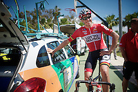 always in for a friendly smile: Adam Hansen (AUS/Lotto-Belisol)<br /> <br /> Tour of Turkey 2014<br /> stage 3