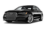Stock pictures of low aggressive front three quarter view of 2015 Audi S6 Base 4 Door Sedan