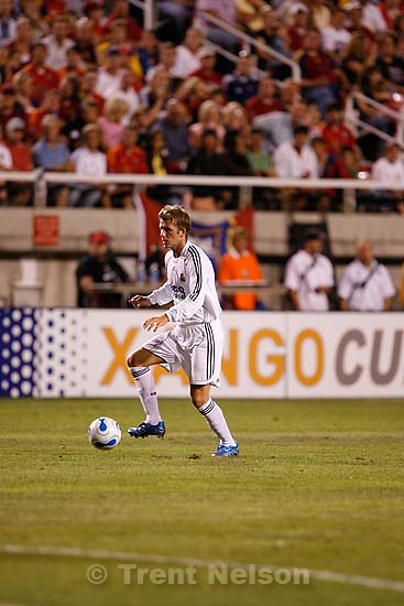 david beckham. Real Salt Lake vs. Real Madrid soccer at Rice-Eccles Stadium.; 8.12.2006<br />