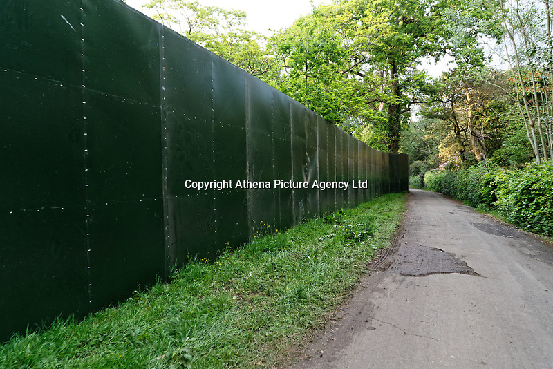 Pictured: The fence erected around Singleton Park. Saturday 26 May 2018<br /> Re: BBC Radio 1 Biggest Weekend at Singleton Park in Swansea, Wales, UK.