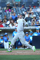 Cole Brannen (18) of the East Team bats against the West Team during the Perfect Game All American Classic at Petco Park on August 14, 2016 in San Diego, California. West Team defeated the East Team, 13-0. (Larry Goren/Four Seam Images)