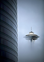 Seattle Space  Needle, Sept 2, 2009.  Photo Copyright Rob Sumner/Red Box Pictures.  Photo can not be used without written permission..www.redboxpictures.com.info@redboxpictures.com