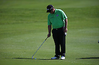 George Coetzee (RSA) unsure whether his ball is on the fairway and calls upon rules referee John Paramore for a judgment during Round Two of The Tshwane Open 2014 at the Els (Copperleaf) Golf Club, City of Tshwane, Pretoria, South Africa. Picture:  David Lloyd / www.golffile.ie