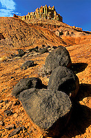 731350267 the castle and volcanic rocks in capitol reef national park utah united states