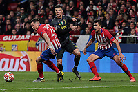 Atletico de Madrid's Jose Maria Gimenez (L) and Rodrigo Hernandez (R) and Juventus' Cristiano Ronaldo during UEFA Champions League match, Round of 16, 1st leg between Atletico de Madrid and Juventus at Wanda Metropolitano Stadium in Madrid, Spain. February 20, 2019. (Insidefoto/ALTERPHOTOS/A. Perez Meca)<br /> ITALY ONLY